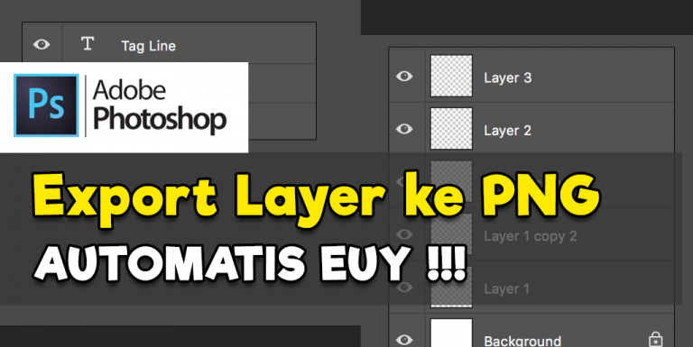 Photoshop : Export Layer to File PNG Secara Automatis